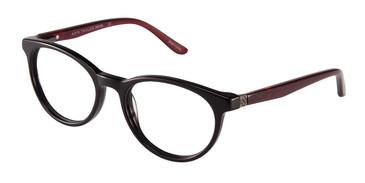 Black/Burgundy Ann Taylor ATP803 Petite Eyeglasses - Teenager.