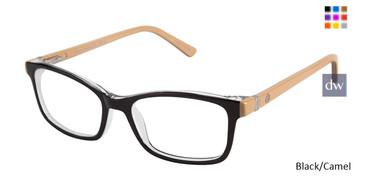 Black/Camel Ann Taylor ATP808 Petite Eyeglasses - Teenager.