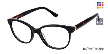 Bl/Red Tortoise Ann Taylor ATP813 Petite Eyeglasses - Teenager.