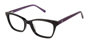 Bk/Amethyst Ann Taylor ATP814 Petite Eyeglasses.