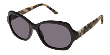 Black/Wht Tort Ann Taylor ATP902 Petite Sunglasses.
