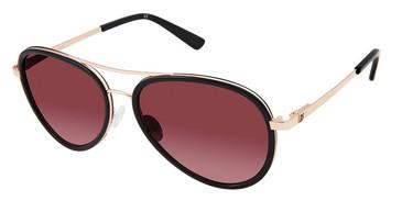 Black/Rose Ann Taylor ATP911 Petite Sunglasses.