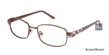 Brown/Brown C By L'Amy 521 Eyeglasses.