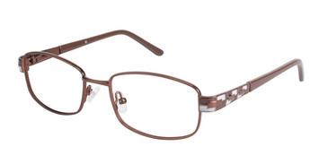 Brown/Brown (c02) C By L'Amy 521 Eyeglasses.