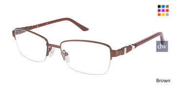 Brown C By L'Amy 522 Eyeglasses.