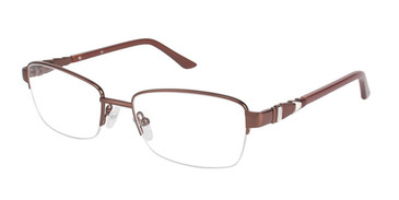 Brown (c01) C By L'Amy 522 Eyeglasses.