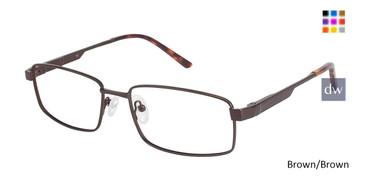 Brown/Brown C By L'Amy 617 Eyeglasses.
