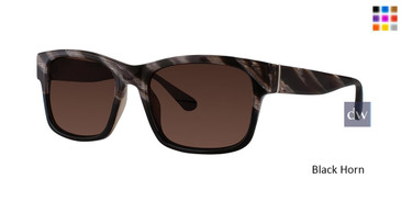 Black Horn Zac Posen Culver Sunglasses.