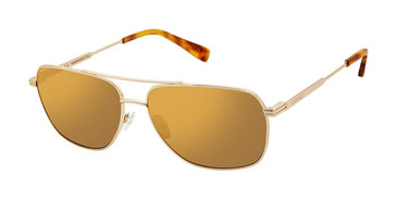 C02 Shiny Gold Canali 201 Sunglasses.