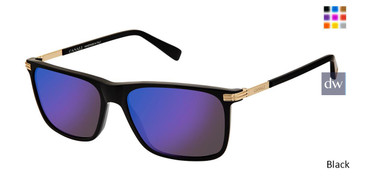 Black Canali 202 Polarized Sunglasses.