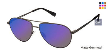 Matte Gunmetal Canali 204 Polarized Sunglasses.