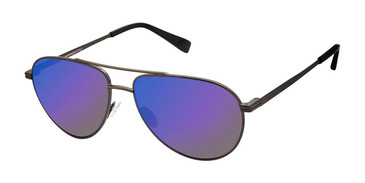 C01 Matte Gunmetal Canali 204 Polarized Sunglasses.