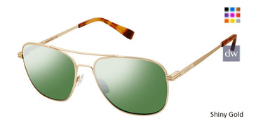 Shiny Gold Canali 205 Polarized Sunglasses.
