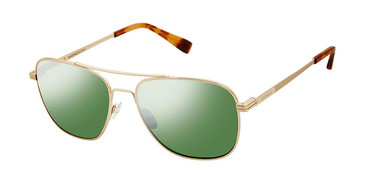 C01 Shiny Gold Canali 205 Polarized Sunglasses.