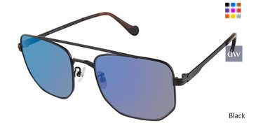 Black Canali 218A Asian Fit Titanium Sunglasses.