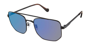 C03 Black Canali 218A Alternative Fit Titanium Sunglasses.