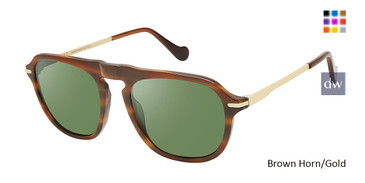 Brown Horn/Gold Canali 219A Alternative Fit Sunglasses.