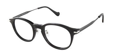 C01 Black/Gunmetal Canali 601A Alternative Fit Eyeglasses.