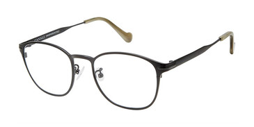 C03 Black Canali 602A Alternative Fit Titanium Eyeglasses.