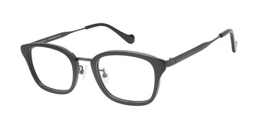 C01 Black/Gunmetal Canali 605A Alternative Fit Eyeglasses.