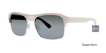 Taupe Horn Zac Posen Baldwin Sunglasses.