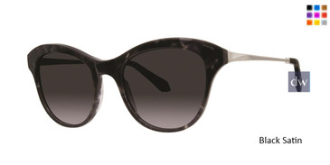 Black Satin Zac Posen Jolene Sunglasses.
