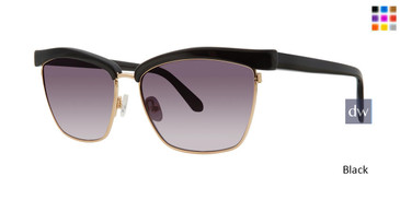 Black Zac Posen Lavette Sunglasses.