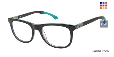 Black Green Champion 3RING Tween Champion Eyeglasses.