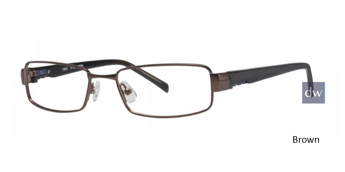 Brown Timex TMX RX Topspin Eyeglasses