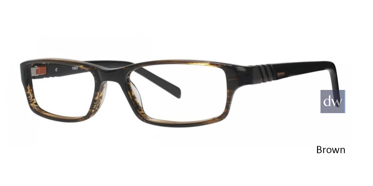 Brown Timex TMX RX Inbound Eyeglasses - Teenager