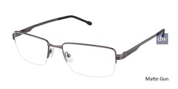 Matte Gun Champion 4002 Extended Size Eyeglasses.
