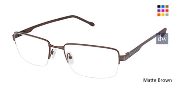 Matte Brown Champion 4002 Extended Size Eyeglasses.