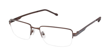 Matte Brown c01 Champion 4002 Extended Size Eyeglasses.