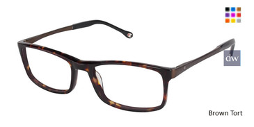 Brown Tort Champion 4004 Extended Size Eyeglasses.