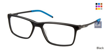 Black Champion 4009 Extended Size Eyeglasses.