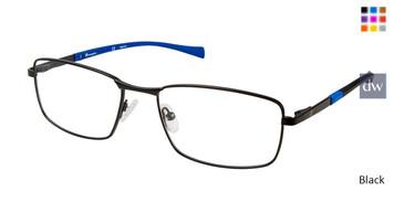 Black Champion 4011 Extended Size Eyeglasses.