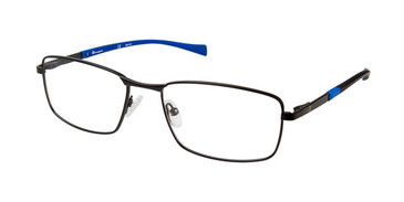 Black c02 Champion 4011 Extended Size Eyeglasses.