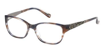 Brown/Blue Marciano GM0243 Eyeglasses.