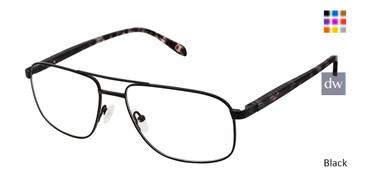 Black Champion 4019 Extended Size Titanium Eyeglasses.