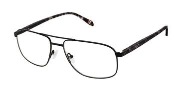 Black c02 Champion 4019 Extended Size Titanium Eyeglasses.