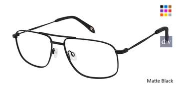 Matte Black Champion 4027 Extended Size Eyeglasses.
