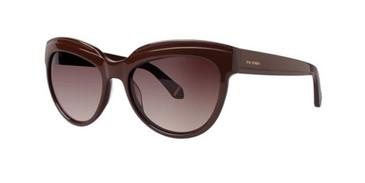 Brown Zac Posen Tennille Sunglasses.