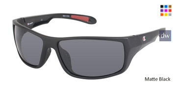Matte Black Champion 6016 Polarized Sunglasses.