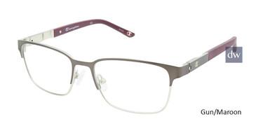 Gun/Maroon Champion 7023 Tween Champion Eyeglasses.