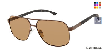 Dark Brown Champion Alter Polarized Sunglasses.