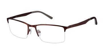 Matte Dk Brown c03 Champion FL1001 Fleet Titanium Eyeglasses.