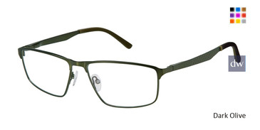 Dark Olive Champion FL1004 Fleet Titanium Eyeglasses.