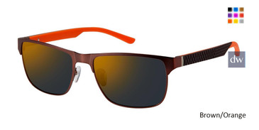 Brown/Orange Champion FL6002 Fleet Titanium Polarized Sunglasses.