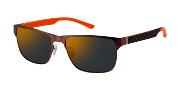 Brown/Orange c02 Champion FL6002 Fleet Titanium Polarized Sunglasses.