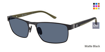 Matte Black Champion FL6004 Fleet Titanium Polarized Sunglasses.